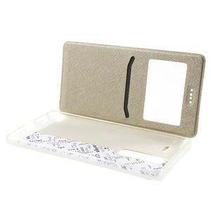 Cross peněženkové pouzdro s okýnkem na LG Zero - zlaté - 5