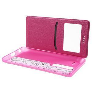 Cross peňaženkové puzdro s okienkom na LG Zero - rose - 5