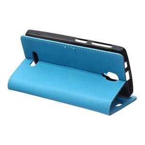 Wallet puzdro pre mobil Lenovo A1000 - modré - 5