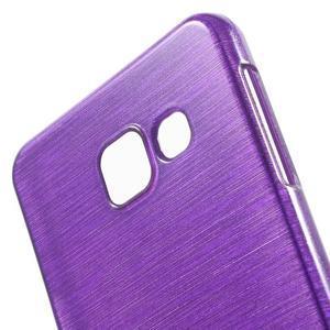 Gélový obal s motivem broušení na Samsung Galaxy A3 (2016) - fialový - 5