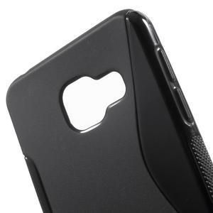 S-line gélové obal na mobil Samsung Galaxy A3 (2016) - čierný - 5