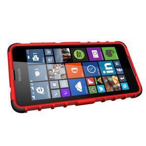 Outdoor odolný obal pre mobil Microsoft Lumia 650 - červený - 5
