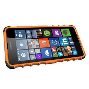Outdoor odolný obal pre mobil Microsoft Lumia 650 - oranžový - 5