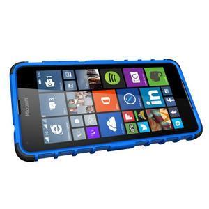Outdoor odolný obal pre mobil Microsoft Lumia 650 - modrý - 5