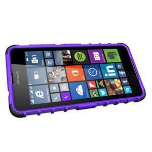 Outdoor odolný obal pre mobil Microsoft Lumia 650 - fialový - 5