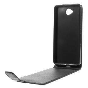 Flipové puzdro na mobil Microsoft Lumia 650 - čierné - 5