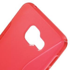 S-line gélové obal pre mobil Samsung Galaxy A3 (2016) - červený - 5