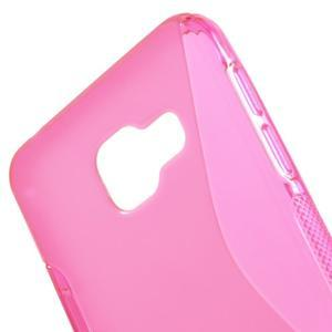 S-line gélové obal pre mobil Samsung Galaxy A3 (2016) - rose - 5