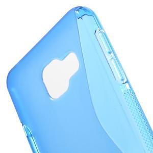 S-line gélové obal pre mobil Samsung Galaxy A3 (2016) - modrý - 5