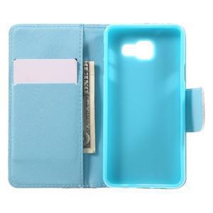 Peňaženkové puzdro na mobil Samsung Galaxy A3 (2016) - modrý motýl - 5