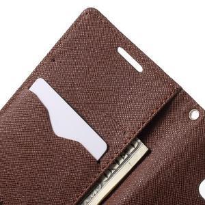 Goospery peňaženkové puzdro na Samsung Galaxy A3 (2016) - čierné/hnedé - 5