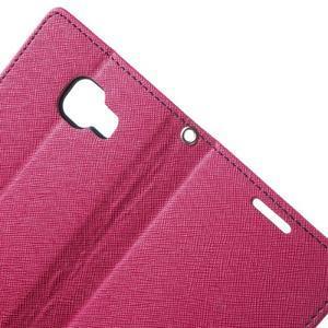Goospery peňaženkové puzdro pre Samsung Galaxy A3 (2016) - rose - 5