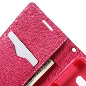 Goospery peňaženkové puzdro na Samsung Galaxy A3 (2016) - růžové - 5
