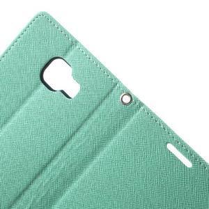 Goospery peňaženkové puzdro na Samsung Galaxy A3 (2016) - cyan - 5