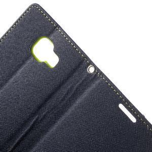 Goospery peňaženkové puzdro na Samsung Galaxy A3 (2016) - tmavo modré - 5