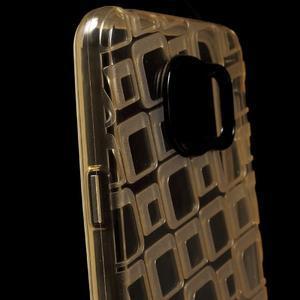 Square gélový obal pre mobil Samsung Galaxy A3 (2016) - zlatý - 5