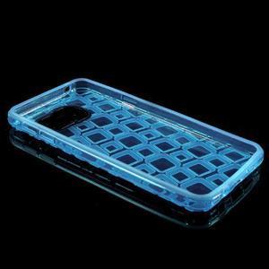 Square gélový obal pre mobil Samsung Galaxy A3 (2016) - modrý - 5