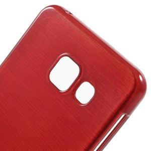 Gélový obal s motívom broušení pre Samsung Galaxy A3 (2016) - červený - 5