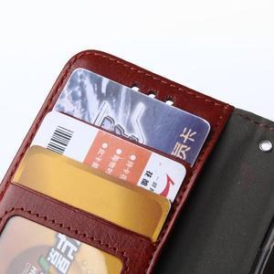 Wallet puzdro na mobil Samsung Galaxy A3 (2016) - hnedé - 5
