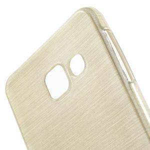 Gélový obal s motivem broušení na Samsung Galaxy A3 (2016) - zlatý - 5
