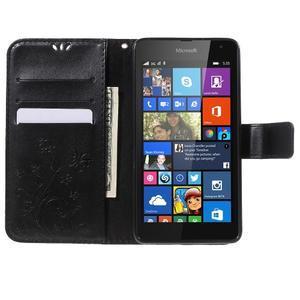 Butterfly peňaženkové puzdro na Microsoft Lumia 535 - čierné - 5