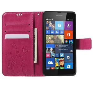 Butterfly peňaženkové puzdro na Microsoft Lumia 535 - rose - 5