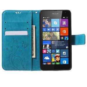 Butterfly peňaženkové puzdro na Microsoft Lumia 535 - modré - 5