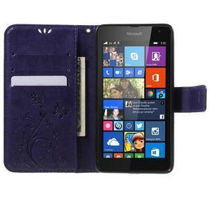 Butterfly peňaženkové puzdro na Microsoft Lumia 535 - fialové - 5