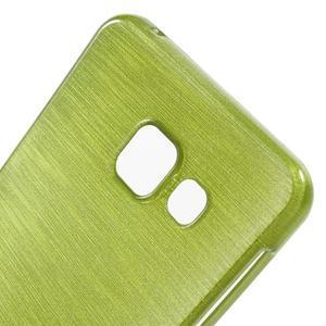 Gélový obal s motivem broušení na Samsung Galaxy A3 (2016) - zelený - 5