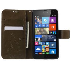 Butterfly peňaženkové puzdro na Microsoft Lumia 535 - coffee - 5