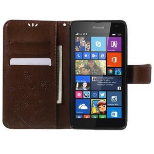 Butterfly peňaženkové puzdro na Microsoft Lumia 535 - hnedé - 5