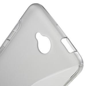 S-line gélový obal na mobil Microsoft Lumia 650 - šedý - 5