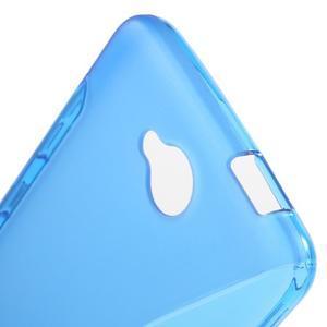 S-line gélový obal na mobil Microsoft Lumia 650 - modrý - 5