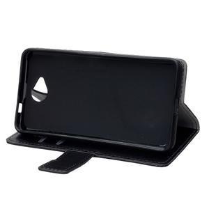 Fold peňaženkové puzdro na Microsofst Lumia 650 - čierné - 5