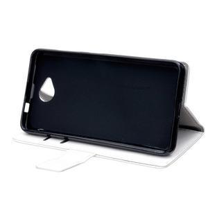 Fold peňaženkové puzdro na Microsofst Lumia 650 - biele - 5