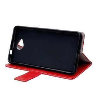 Fold peňaženkové puzdro na Microsofst Lumia 650 - červené - 5