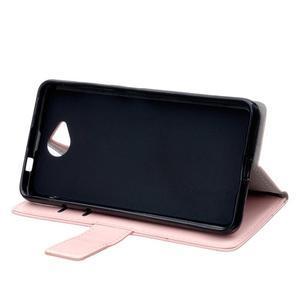 Fold peňaženkové puzdro na Microsofst Lumia 650 - růžové - 5