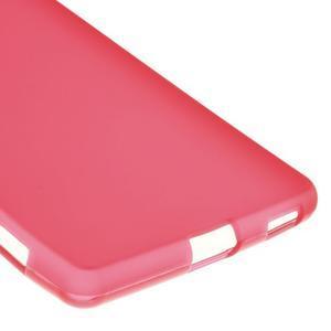 Matný gelový kryt pro Sony Xperia M5 - červený - 5