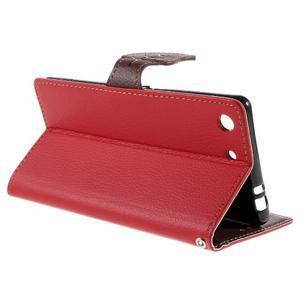 Blade Peňaženkové puzdro pre Sony Xperia M5 - červené - 5