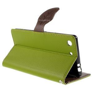 Blade peněženkové pouzdro na Sony Xperia M5 - zelené - 5