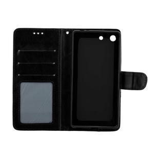 Horse PU kožené puzdro pre Sony Xperia M5 - čierne - 5