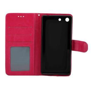 Horse PU kožené pouzdro na Sony Xperia M5 - rose - 5