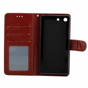Horse PU kožené pouzdro na Sony Xperia M5 - hnědé - 5
