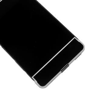 Kryt s kovovým obvodom pre Sony Xperia M5 - čierny - 5