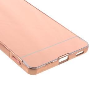Kryt s kovovým obvodom pre Sony Xperia M5 - rose gold - 5