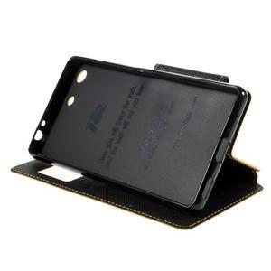 Diary puzdro s okienkom na Sony Xperia M5 - žlté - 5