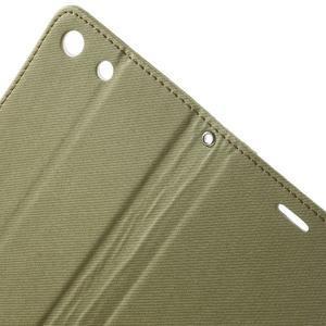Wall PU kožené pouzdro na mobil Sony Xperia M5 - khaki - 5