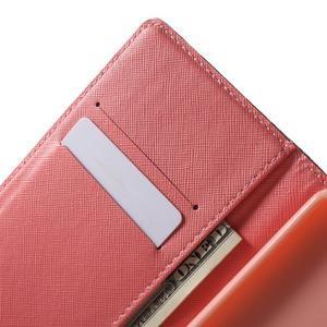 Stand peněženkové pouzdro na Sony Xperia M5 - růže s Eiffelovou věží - 5