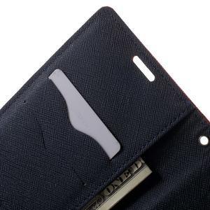 Goos PU kožené penženkové pouzdro na Sony Xperia M5 - červené - 5