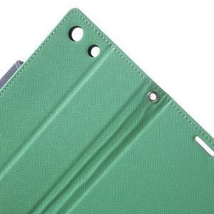 Goos PU kožené peňaženkové puzdro pre Sony Xperia M5 - cyan - 5